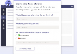 microsoft teams, Microsoft Teams apps for running productive standups while working remotely, DADOS Electronic Data Capture Platform